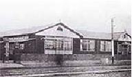 関東大震災後に建て直された仮校舎(大正12年12月完成)